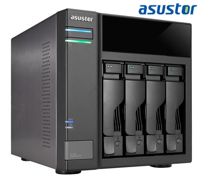 Asustor AS6004U 4-bay expansion box support USB3.0 power sync mechanism Maximum 64TB Hot Swap