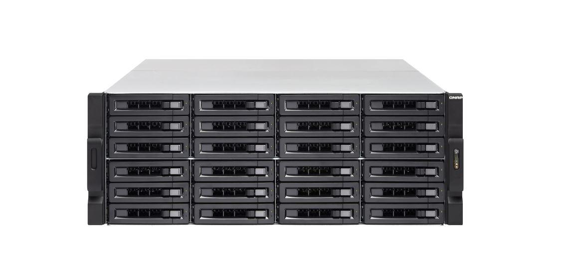 QNAP TVS-2472XU-RP-I5 24 Bay Diskless NAS Intel® Core™ i5-8500 six-core 3.0 GHz 8 GB DDR4 3.5'/2.5' SATA 6 Gbps HDD/SSD 4x GbE 2x USB 3.1 Hot-swappabl
