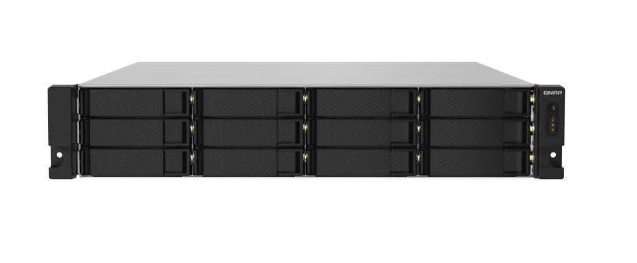 QNAP TS-1232PXU-RP-4G 12 Bay NAS AL-324 quad-core 1.7 GHz processor, 4GB RAM  2 x10GbE SFP+ redundant power 4xUSB3.2  rackmount Hot-swappable