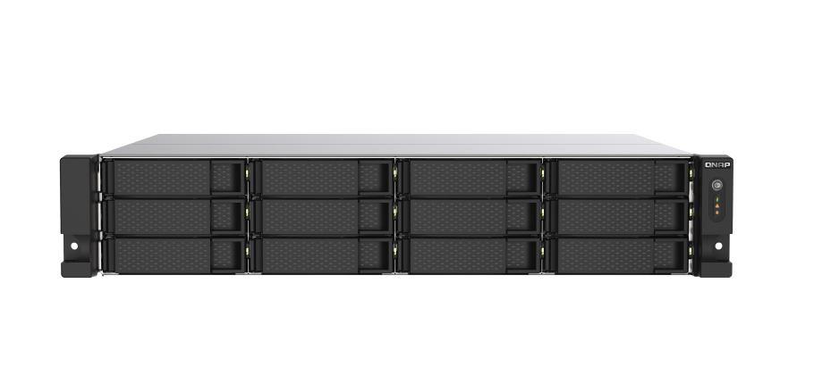 QNAP TS-1273AU-RP-8G 12 Bay NAS AMD Ryzen™ V1500B quad-core 2.2 GHz processor, 8 GB UDIMM DDR4 Redundant power Hot-swappable 3yrs warranty