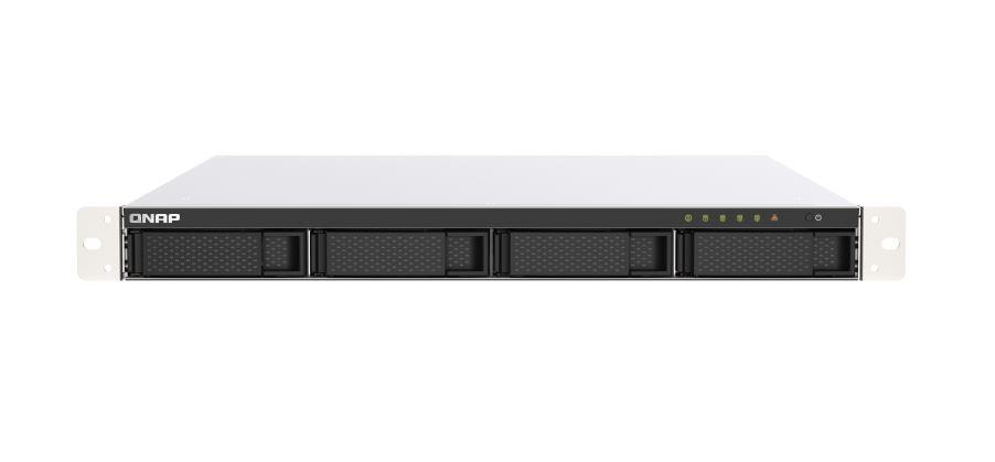 QNAP TS-453DU-RP-4G 4 Bay NAS Intel® Celeron® J4125 quad-core 2.0 GHz 4 GB SO-DIMM DDR4 Hot-swappable 2x2.5GbE 1xPCIe 2xUSB 3.2 redundant power 3 yrs