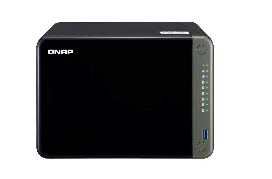 QNAP TS-653D-4G 6-Bay NAS Intel Celeron J4125  Quad-Core 2.0GHz 4GB DDR4 SODIMM RAM 1xPCIe 2xHDMI 4K 5xUSB3.0 1xUSB-C 2xGigabit LAN Hot-swappable
