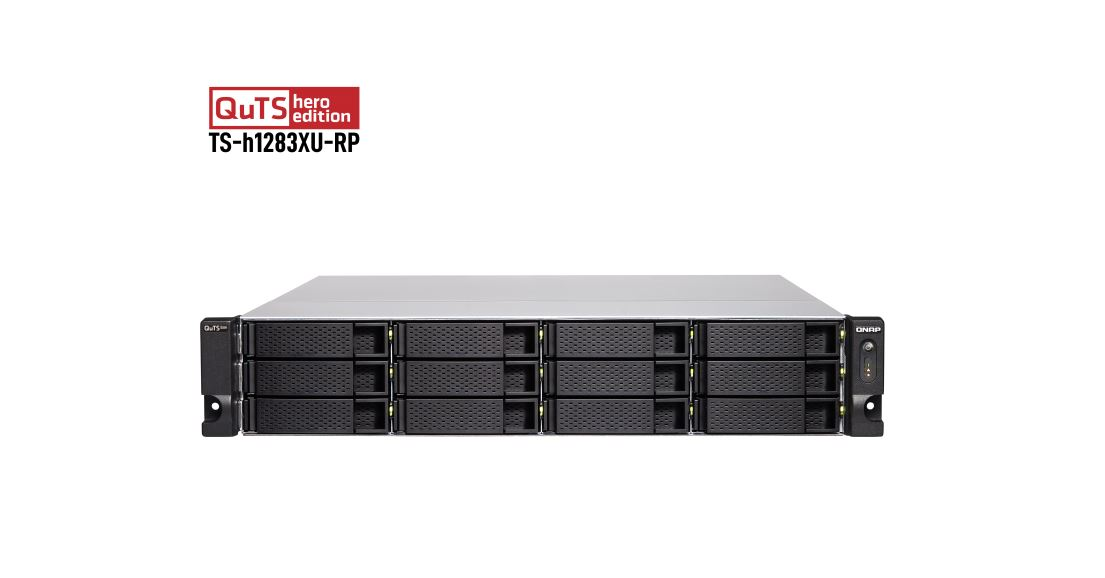Qnap 12-Bay NAS Intel® Xeon® E-2236 6 cores/12 threads 3.4 GHz processor 128 GB DDR4 ECC (4 x 32 GB) redundant power supply no rail kit