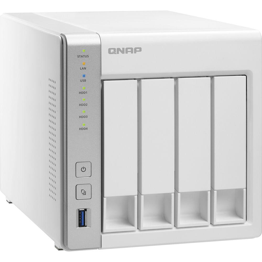 QNAP TS-431P - NAS server - 4 bays - SATA 6Gb/s - RAID 0, 1, 5, 6, 10, JBOD, 5 hot spare, 6 hot spare, 10 hot spare - RAM 1 GB - Gigabit Ethernet