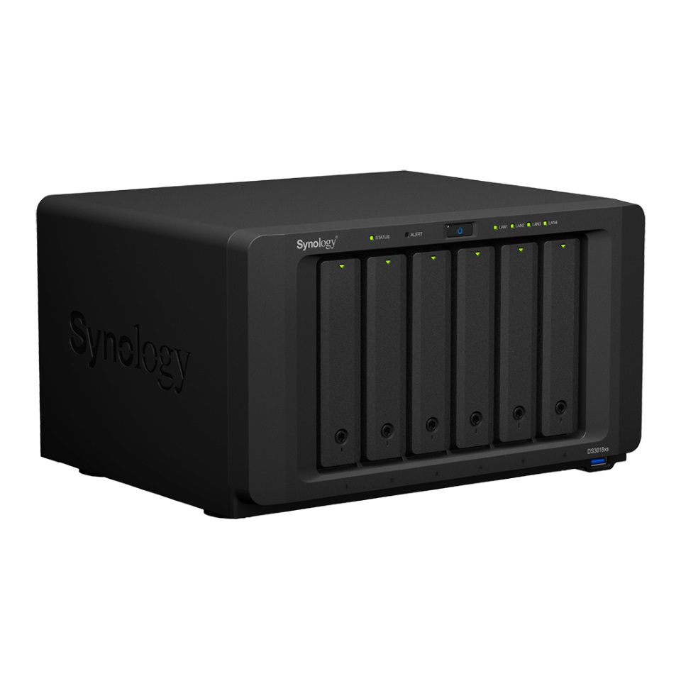 Synology DiskStation DS3018xs 6-Bay 3.5' Diskless 4 x GbE/10GbE support  NAS (Scalable) (ENT) - 5 year wty with SRS