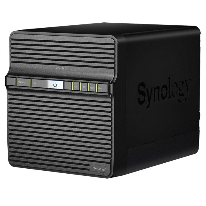 Synology DiskStation DS420j 4-Bay 3.5' Diskless 1xGbE NAS , Realtek RTD1296 4-core 1.4GHz, SATA USB3.0x 2, Adapter 90 W  2 Yr Wty