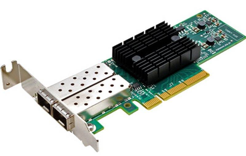 Synology E10G17-F2 is a dual-port 10 Gigabit SFP+ PCIe 3.0 x8 Ethernet adapter
