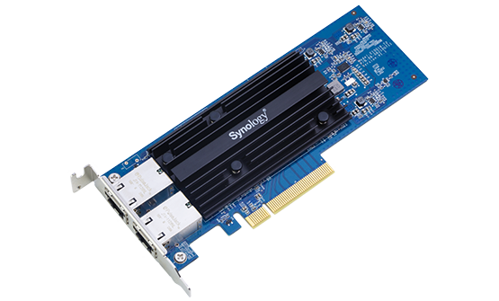 Synology E10G18-T2 Add-In Card Dual Port High-Speed10GBASE-T add-in card for Synology servers