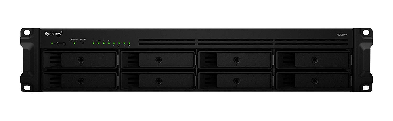 Synology RackStation RS1219+ 8-Bay 3.5' Diskless 4xGbE NAS (2U Rack), Intel Atom Quad Core 2.4GHz, 2GB RAM, 2xUSB3, eSata with SR