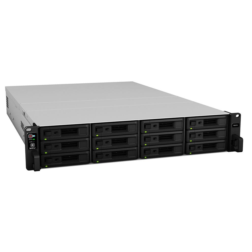 Synology RackStation RS2418RP+ 12-Bay 2U Rack Intel C3538 Quad-Core Redundant Power, 2.1GHz 4GB DDR4 4xGbE LAN 2xUSB3.0 1xExpansion Port 1xPCIe 2xM.2
