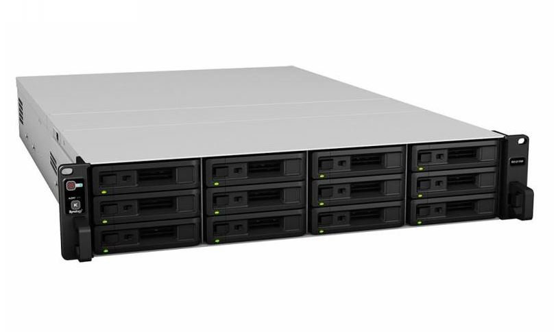 Synology Expansion Unit RX1217RP 12-Bay 3.5' Diskless NAS (2U Rack) (SMB/ENT) for Scalable NAS Models RS3617 with redundant power supplies