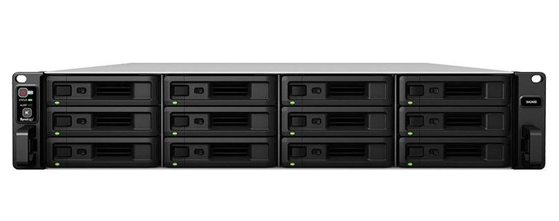 Synology SA3400 12 Bay NAS Intel Xeon D-1541 8-core 2.1GHz 16 GB DDR4 Hot Swappable 4xRJ-45 1GbE 2xRJ-45 10GbE 2xUSB 3.0 2 x Gen3 x8 slots 5 yrs wty