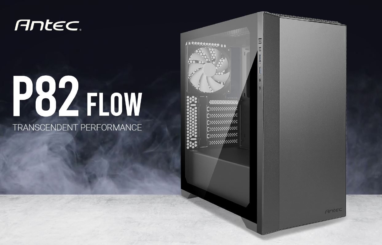 Antec P82 Flow 4x 140mm White Fan. Extreme Cooling Configurations, VGA 380mm, CPU 178mm, PSU 220mm,  ATX, M-ATX, ITX Case