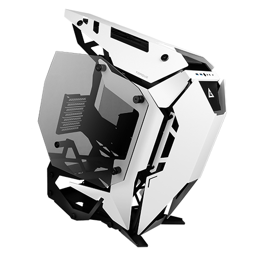 Antec Torque Black White Open Frame Case, E-ATX, ATX, Micro-ATX, ITX. Tempered Glass, USB 3.1 Type-C, USB 3.0 x 2, Aluminium.