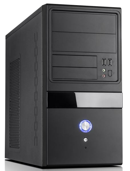 Aywun 204 mATX Business Corporate Case with 500w PSU 24PIN ATX, 1x USB3+1x USB2 HD Audio. 2 Yrs Warranty (LS)