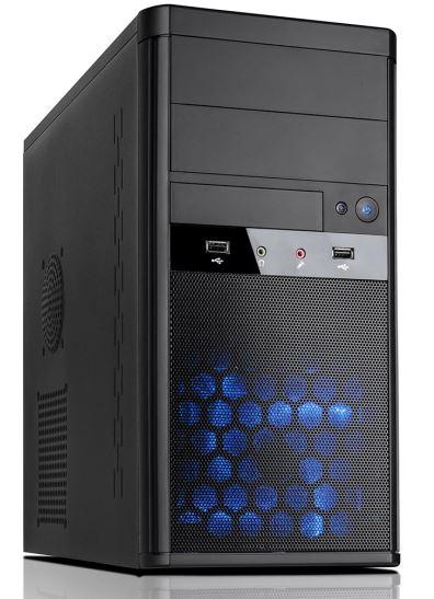 Aywun 208 mATX System Case with 500w PSU. 24PIN ATX, 5.25' External x 2, 3.5' Ext x 1. USB3 + USB2 , HD Audio. No Fan. 2 yrs Warranty.