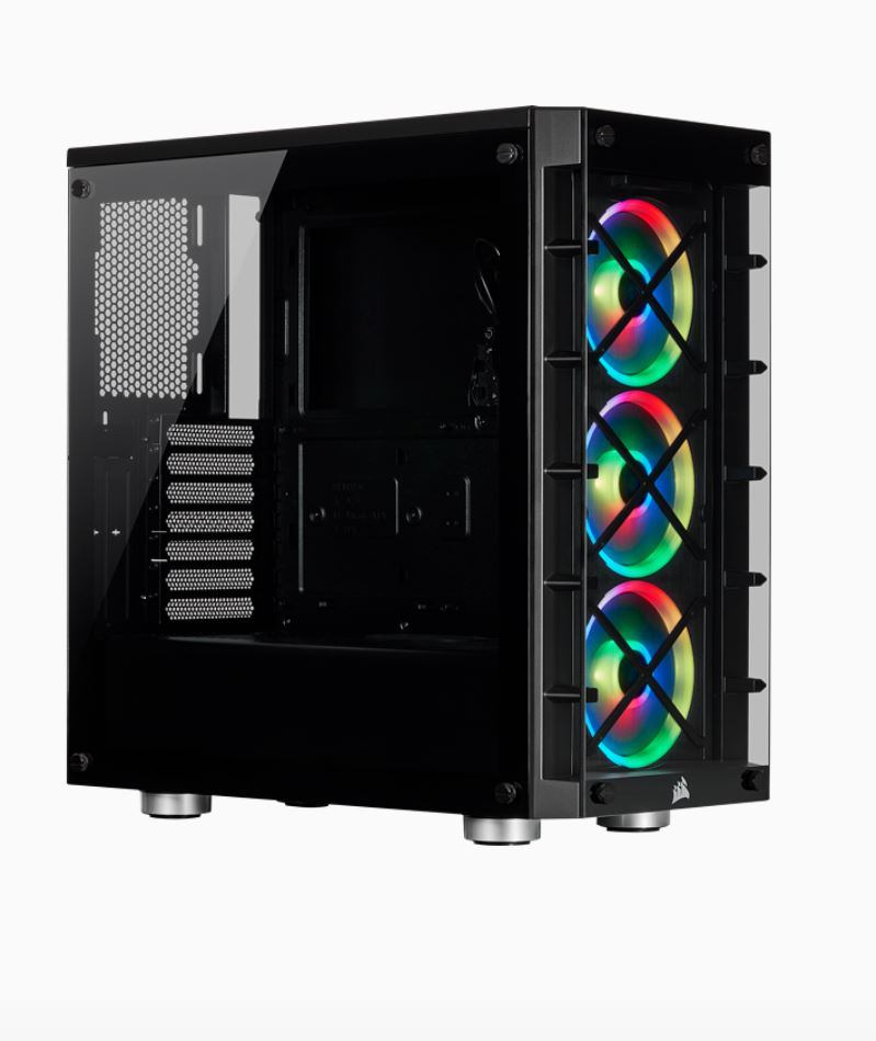 Corsair  iCUE 465X RGB ATX BLACK (LL120 RGB Fan) Mid-Tower Smart Case v2