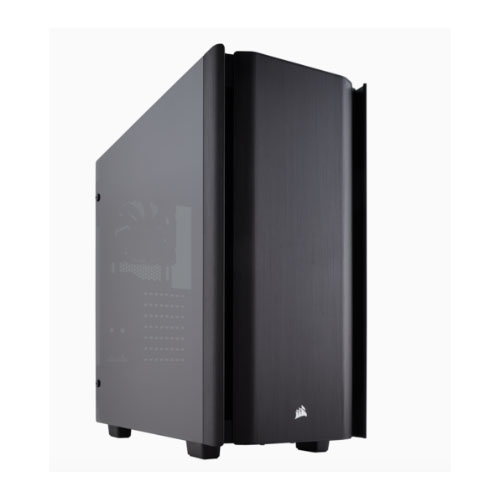 Corsair Obsidian 500D ATX Tempered Glass Case. USB 3.1 Type-C x 1, USB 3.1 x 2.  7 Expansion slots, up to 360mm Radiator, 2 Years Warranty