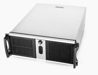 Chenbro RM42300 Black 4U Rackmount Case, No PSU, 2x USB 2.0, External 3x 5.25',Internal 4x 3.5', 1x Slim ODD Slot, 1x 120mm Fan