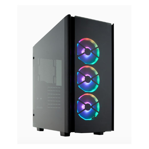 Corsair Obsidian 500D RGB SE ATX Mid Tower Case, USB 3.1 Type-C, Premium Tempered Glass and Aluminium, LL120 Fans and Commander PRO