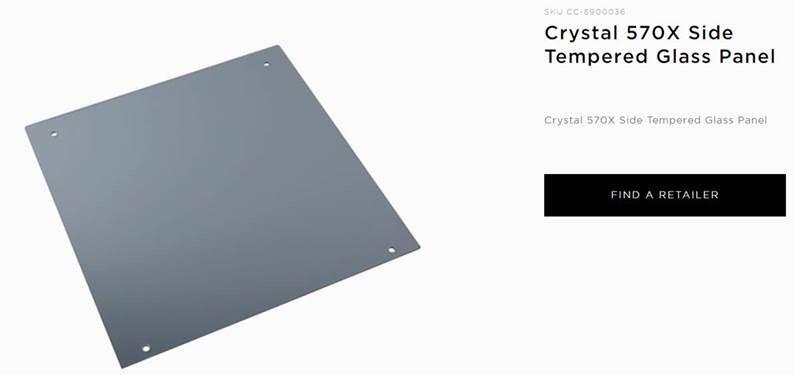 Corsair 570X RGB Tempered Glass Panel