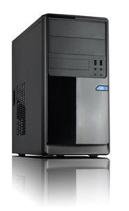Casecom CM13 Black mATX w/550W 1x USB3.0+1xUSB2.0, HD Audio