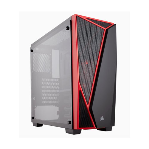 Corsair Carbide Series SPEC-04 Tempered Glass Mid-Tower Gaming Case, Black and Red (LS)