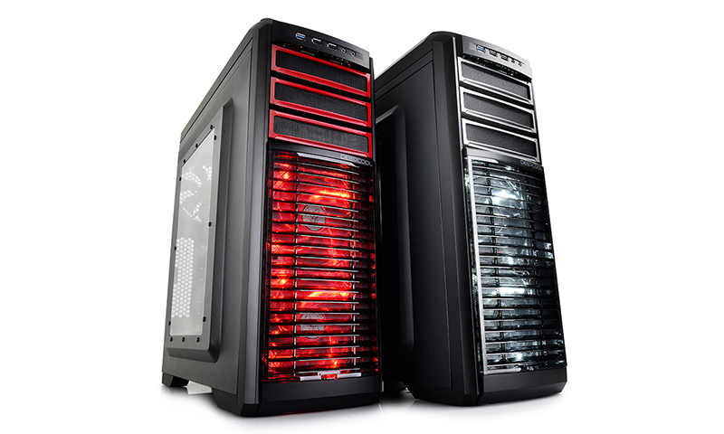 Deepcool Kendomen RD Mid-Tower Case, 5 Fans Pre-installed, Red