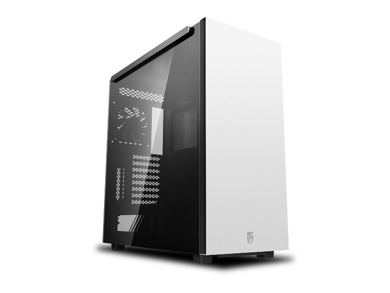 Deepcool MACUBE 550 WH Minimalist Full Tower Case, Tempered Glass Side Panel, White