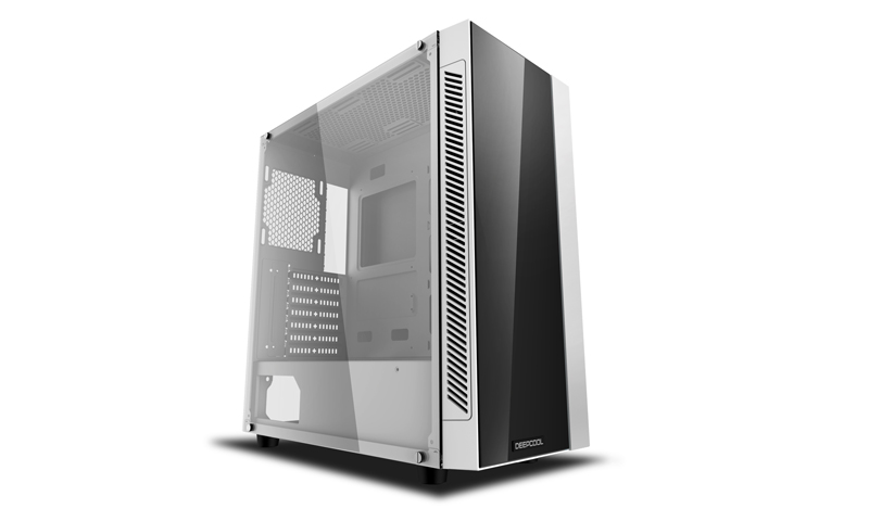 Deepcool MATREXX 55 V3 ADD-RGB WH Minimalistic Tempered Glass Case, White Colour, Supports E-ATX MB No Fans (CAD-MATREXX55V3-ARW3)
