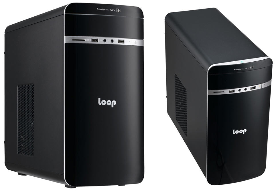 LOOP 2208 Case with 350W 80+ Gold PSU. Front USB3.0 and HD Audio
