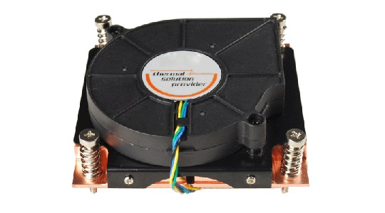 TGC Chassis Accessory 1U Universal CPU Active Cooler (Full Copper) for 775/1155/1366/2011/1151/1150