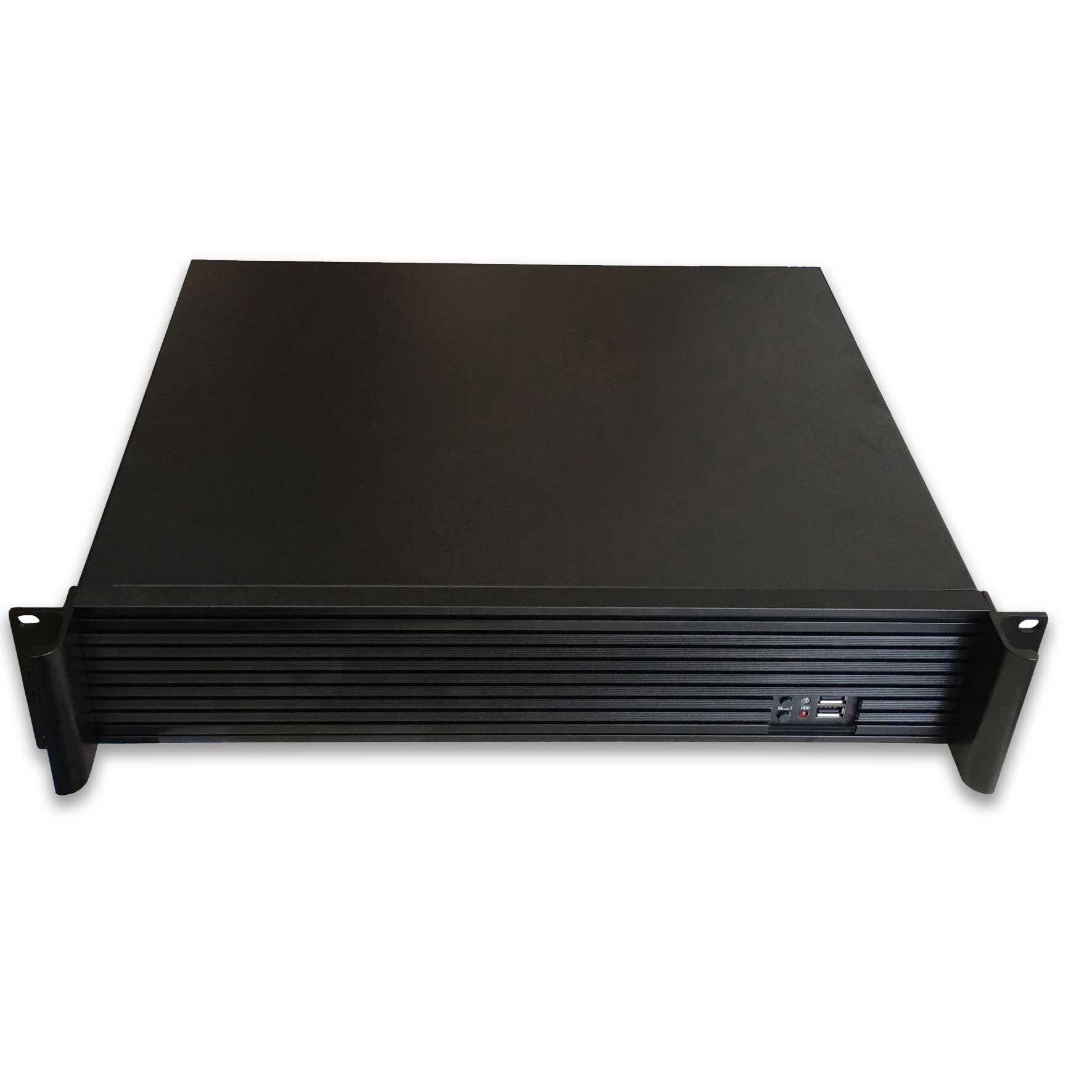 TGC Rack Mountable Server Chassis 2U 350mm Depth, 3x Int 3.5' Bays, 4x Low Profile PCIE Slots, ATX PSU/MB