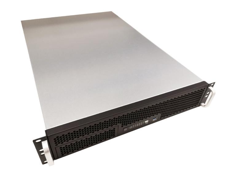 TGC Rack Mountable Server Chassis 2U 650mm Depth, 1x Ext 5.25' Bay, 9x Int 3.5' Bays, 7x Low Profile PCIE Slots, ATX PSU/MB