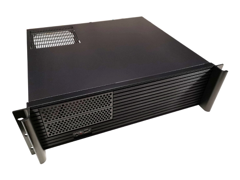 TGC Rack Mountable Server Chassis 3U 380mm Depth, 2x Ext 5.25' Bays, 7-8x Int 3.5' Bays, 4x Full Height PCIE Slots, ATX PSU/MB