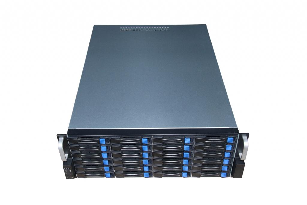 TGC Rack Mountable Server Chassis 4U 590mm Depth, 24x Ext 3.5'/2.5' Bays, 2x Int 2.5' Bays, 7x Full Height PCIE Slots, ATX PSU/MB