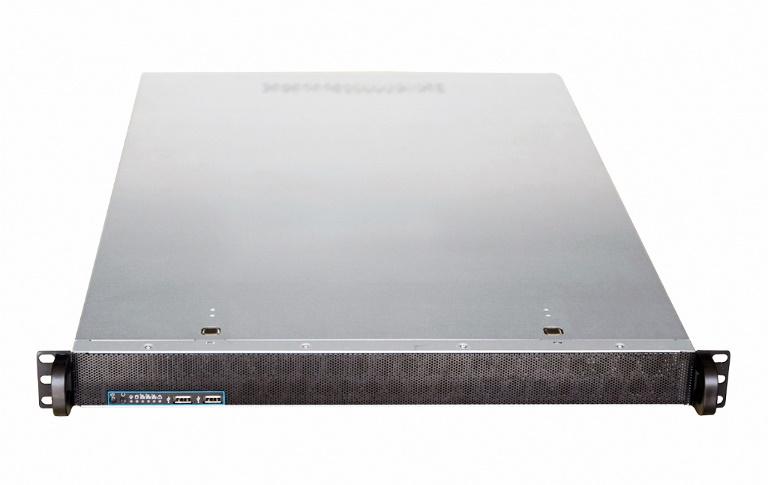 TGC Rack Mountable Server Chassis 1U 650mm Depth, 4x 3.5' Int Bays, 1 x Full Height PCIE Slots, ATX MB, 1U PSU