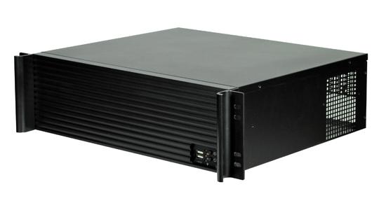 TGC Rack Mountable Server Chassis 3U 380mm Depth, 7-8x Int 3.5' Bays, 4x Full Height PCIE Slots, ATX PSU/MB