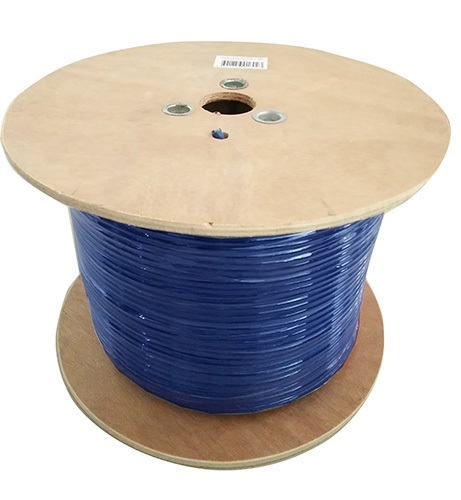 8Ware Cat6A Underground/External Shield Cable Roll 350m Blue Bare Copper Twisted Core PVC Jacket