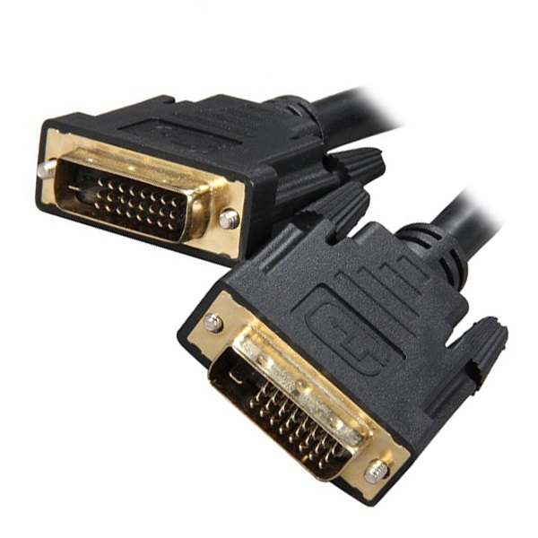 8Ware DVI-D Dual-Link Cable 2m - 28 AWG Dual-link DVI-D Male 25-pin