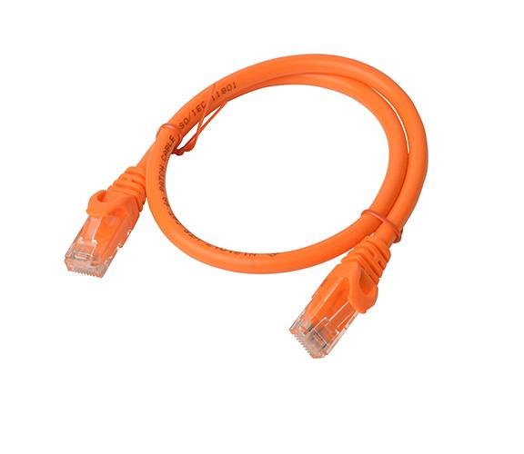 8Ware Cat6a UTP Ethernet Cable 25cm SnaglessOrange