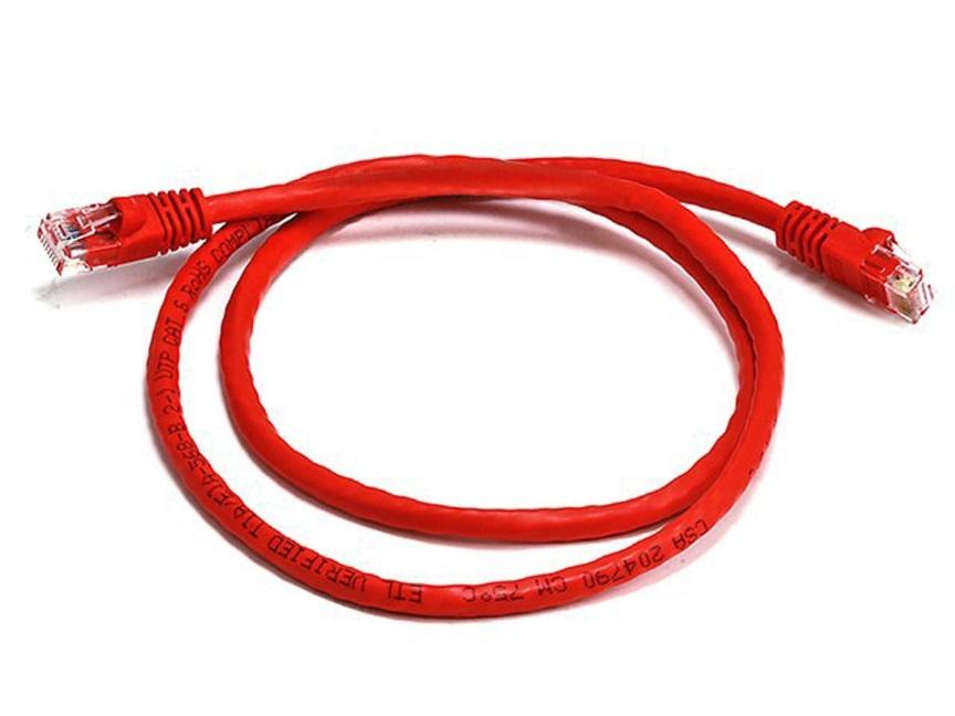 8Ware Cat6a UTP Ethernet Cable 25cm SnaglessRed