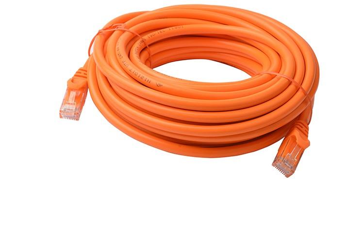 8Ware Cat6a UTP Ethernet Cable 10m SnaglessOrange