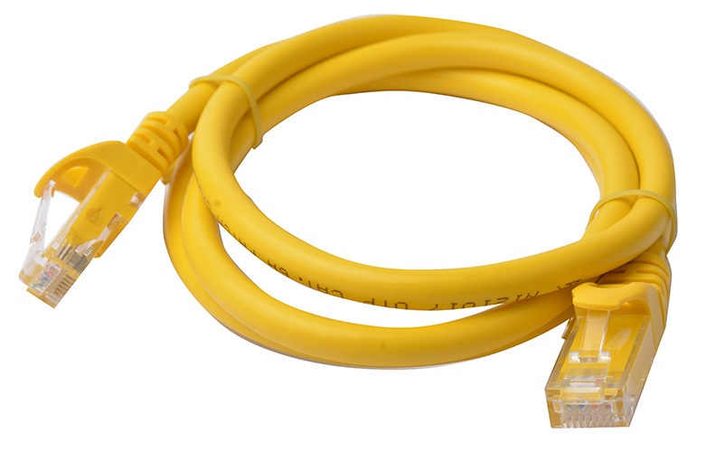 8Ware Cat6a UTP Ethernet Cable 1m Snagless Yellow