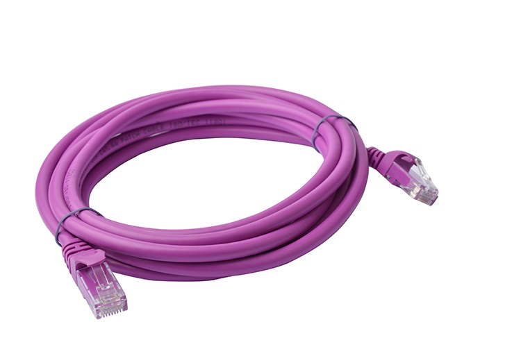 8Ware Cat6a UTP Ethernet Cable 3m SnaglessPurple