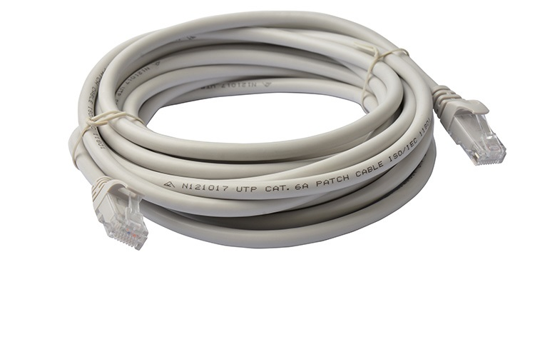8Ware Cat6a UTP Ethernet Cable 5m Snagless Grey