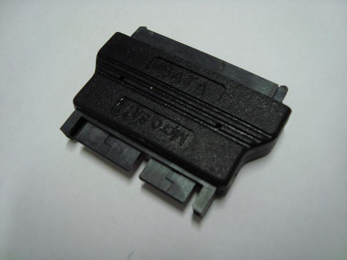 8Ware SATA 22-Pin Female to 16-Pin Micro SATA Male Adapter