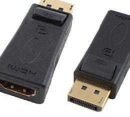 Cabac Display Port Male to HDMI Female Adaptor