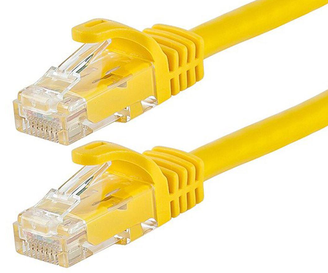 Astrotek CAT6 Cable 1m - Yellow Color Premium RJ45 Ethernet Network LAN UTP Patch Cord 26AWG-CCA PVC Jacket