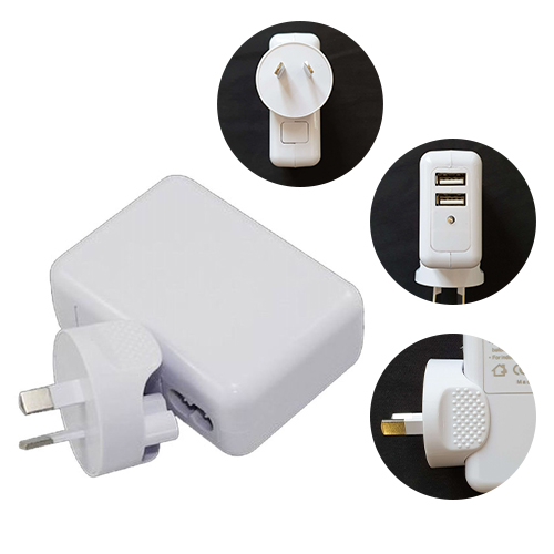 Astrotek USB Travel Wall Charger AU Power Adapter Plug 5V 2.1A 100V-240V 2 Ports White Colour for iPhone Samsung Smartphones  USB Devices ~CBAT-USB-P